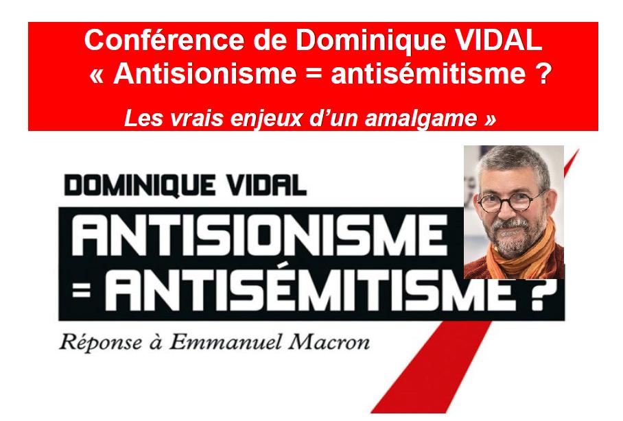 """Résultat de recherche d'images pour """"Dominique Vidal Antisionisme, antisémitisme : les enjeux d'un amalgame"""""""